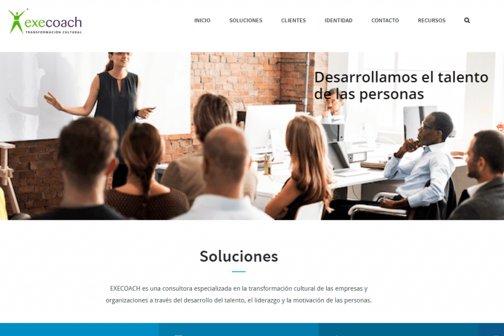 En make a coffee, agencia de branding de barcelona, desarrollamos el marketing digital en Barcelona para EXECOACH, EMPRESA DE mADRID DEDICADA AL COACH ORGANIZACIONAL