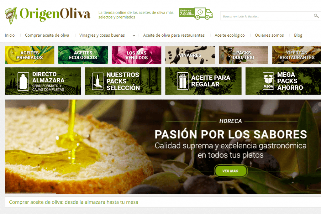 En make a coffee, agencia de branding de barcelona, desarrollamos el marketing digital en Barcelona para origen oliva, fabricante de aceites, a través de pulso marketing